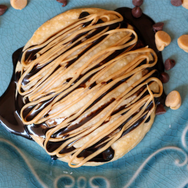 Air Fryer Peanut Butter Chocolate Pastries - Or Bake in the Oven!