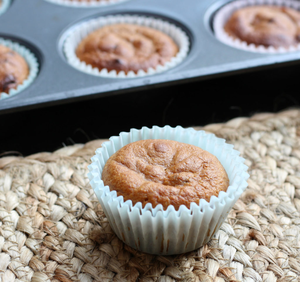 Almond Butter Chocolate Chip Grain Free Blender Muffins