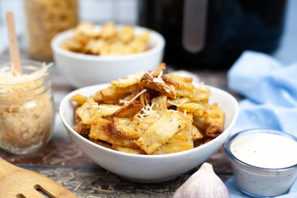 air fryer pasta chips