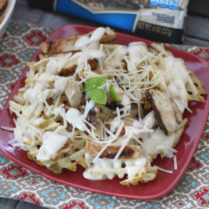 Grilled Chicken Alfredo Fries - Quick & Delicious Family Meal!