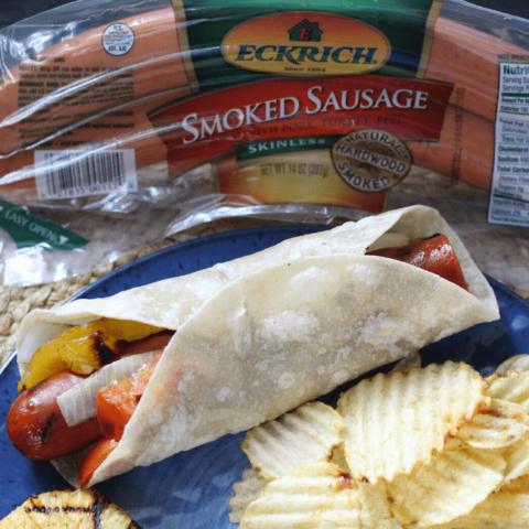Easy Grilled Sausage Wrap with Veggies