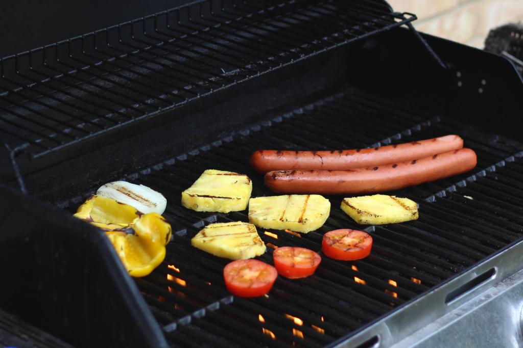 grilled sausage wrap